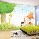 3D 壁紙 1ピース 1㎡ 子供部屋 ファンシーな家 花 インテリア 装飾 寝室 リビング 耐水 防湿 h02476