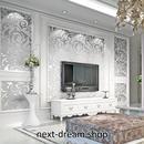 3D 壁紙 53×1000㎝ 北欧デザイン 柄 DIY 不織布 カビ対策 防湿 防水 吸音 インテリア 寝室 リビング h02118