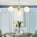 ペンダントライト 照明 LED 3灯 ガラス 丸型 シャンデリア リビング キッチン 寝室 北欧モダン h01646