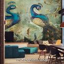 3D 壁紙 1ピース 1㎡ アジアデザイン 孔雀 ピーコック インテリア 部屋装飾 耐水 防湿 防音 h02819