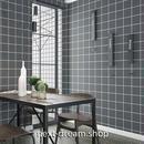 壁紙 60×500cm タイルデザイン ダークグレー DIY リフォーム インテリア 部屋 キッチン トイレ 防水 防湿 h03724