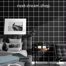 壁紙 60×500cm スクエアタイル ブラック 黒 DIY リフォーム インテリア 部屋/キッチン/家具にも 防水PVC h04129