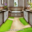 3D 壁紙 1ピース 1㎡ 床用 自然風景 牧場の小道 DIY リフォーム インテリア 部屋 寝室 防湿 防音 h03544