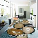 3D 壁紙 1ピース 1㎡ 床用 自然風景 石畳 ストーン DIY リフォーム インテリア 部屋 寝室 防湿 防音 h03494