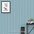 3D壁紙 45×1000cm レンガ 青色 ブルー DIY リフォーム インテリア 部屋・キッチン・家具にも 防湿 防音 h03719