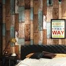 3D 壁紙 53×1000㎝ レトロ 木製ボード PVC 防水 カビ対策 おしゃれクロス インテリア 装飾 寝室 リビング h01883