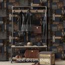 3D 壁紙 53×1000㎝ レトロ 鉄筋 メタル  PVC 防水 カビ対策 おしゃれクロス インテリア 装飾 寝室 リビング h01905