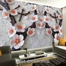 3D 壁紙 1ピース 1㎡ 立体アート 梅の木 花 DIY リフォーム インテリア 部屋 寝室 防湿 防音 h03138