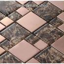 3D壁紙 30×30cm 11枚セット クリスタルガラス 茶色 大理石 DIY リフォーム インテリア 部屋/浴室/トイレにも h04520