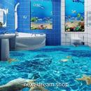 3D 壁紙 1ピース 1㎡ 床用 自然風景 海 ターコイズブルー DIY リフォーム インテリア 部屋 寝室 防湿 防音 h03476