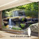 3D 壁紙 1ピース 1㎡ 自然風景 癒し 滝 落ち葉 森 インテリア 装飾 寝室 リビング h02181