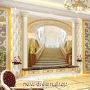 3D 壁紙 1ピース 1㎡ ヨーロッパスタイル 豪邸 階段 インテリア 部屋装飾 耐水 防湿 防音 h02901