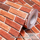 3D壁紙 60×1000cm 赤レンガ 茶色 ブラウン DIY リフォーム インテリア 部屋/リビング/家具にも 防水 PVC h03994