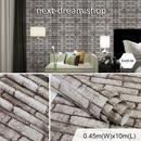 3D壁紙 45×1000cm レンガ 茶色 ダークブラウン DIY リフォーム インテリア 部屋 キッチン 寝室 防湿 防音 h03744