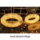 ペンダントライト 照明 LED リング 50cm クリスタル リビング キッチン 寝室 アメリカンヴィンテージ h01592