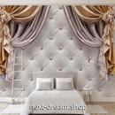 3D 壁紙 1ピース 1㎡ ヨーロッパデザイン 姫 カーテン インテリア 部屋装飾 耐水 防湿 防音 h02844