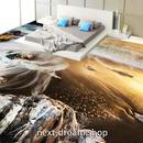 3D 壁紙 1ピース 1㎡ 床用 自然風景 夕暮れ 砂浜 DIY リフォーム インテリア 部屋 寝室 防湿 防音 h03490