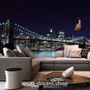 3D 壁紙 1ピース 1㎡ シティ風景 橋 夜景 DIY リフォーム インテリア 部屋 寝室 防湿 防音 h03364