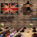 3D 壁紙 53×1000㎝ ノスタルジック レンガ  PVC 防水 カビ対策 おしゃれクロス インテリア 装飾 寝室 リビング h01939