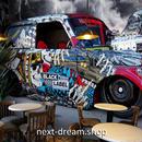 3D 壁紙 1ピース 1㎡ アメリカン 車 アート がいこつ インテリア 部屋装飾 耐水 防湿 防音 h02858