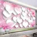 3D 壁紙 1ピース 1㎡ 立体アート 花 ハート ピンク 白 インテリア 部屋 寝室 リビング 防湿 防音 h03018