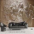 3D 壁紙 1ピース 1㎡ 立体アート 彫刻 女性 インテリア 部屋 寝室 リビング 防湿 防音 h03060