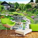 3D 壁紙 1ピース 1㎡ 自然風景 日本庭園 ガーデン 鯉 草花 インテリア 装飾 寝室 リビング h02188