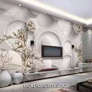 3D 壁紙 1ピース 1㎡ 北欧モダン 立体アート 花柄 DIY リフォーム インテリア 部屋 寝室 防湿 防音 h03091