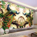 3D 壁紙 1ピース 1㎡ 孔雀 ピーコック アジアン インテリア 装飾 寝室 リビング 耐水 防湿 h02511