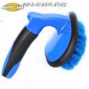 洗車ブラシ 青×黒 カーペット 洗浄 クリーニング メンテナンス 掃除  新品送料込 m00485