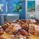 3D 壁紙 1ピース 1㎡ 床用 石 アート ブラウン DIY リフォーム インテリア 部屋 寝室 防湿 防音 h03453