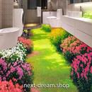 3D 壁紙 1ピース 1㎡ 床用 自然風景 庭 花 DIY リフォーム インテリア 部屋 寝室 防湿 防音 h03435