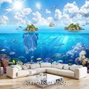 3D 壁紙 1ピース 1㎡ 自然風景 海の景色 シュノーケリング 魚 インテリア 装飾 寝室 リビング h02335