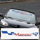 ルノー クリオ ステッカー Clio R.S Twingo Megane スポーツ フロントガラス 窓 デカール h00182