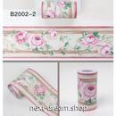 壁紙 10×1000cm 花柄 ピンクローズ 薔薇 DIY リフォーム インテリア キッチン/浴室/家具にも 防水PVC h04229