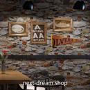 3D 壁紙 53×1000㎝ ノスタルジック 石レンガ  PVC 防水 カビ対策 おしゃれクロス インテリア 装飾 寝室 リビング h01940