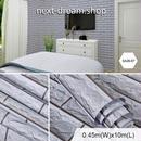 3D壁紙 45×1000cm レンガ 灰色 グレー 石 DIY リフォーム インテリア 部屋 キッチン 寝室 防湿 防音 h03747