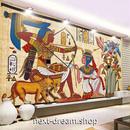 3D 壁紙 1ピース 1㎡ 古代エジプト壁画 絵画 ファラオ インテリア 部屋装飾 耐水 防湿 防音 h02890