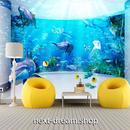 3D 壁紙 1ピース 1㎡ 水族館デザイン イルカ クラゲ インテリア 装飾 寝室 リビング 耐水 防湿 h02519