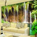 3D 壁紙 1ピース 1㎡ 自然風景 滝 湖 セノーテ インテリア 装飾 寝室 リビング h02196