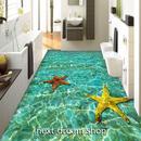 3D 壁紙 1ピース 1㎡ 床用 自然風景 ヒトデ 海 DIY リフォーム インテリア 部屋 寝室 防湿 防音 h03496