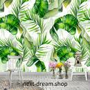3D 壁紙 1ピース 1㎡ 自然風景 癒し トロピカル バナナの葉 インテリア 装飾 寝室 リビング h02179