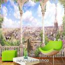 3D 壁紙 1ピース 1㎡ シティ風景 ヨーロッパ 眺め DIY リフォーム インテリア 部屋 寝室 防湿 防音 h03368
