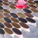 3D壁紙 30×30cm 11枚セット タイル 茶 黒 銀 丸モザイク DIY リフォーム インテリア 部屋/キッチン/トイレにも h04395