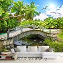 3D 壁紙 1ピース 1㎡ 自然風景 ジャングル 海 橋 カモメ インテリア 装飾 寝室 リビング h02274