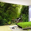 【12㎡サイズ】3D 壁紙 1ピース 1㎡ 自然風景 植物 ジャングル 森林 インテリア 装飾 寝室 リビング h02207