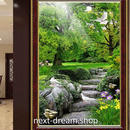3D 壁紙 玄関用 1ピース 1㎡ 自然風景 森林 石階段 鳩 インテリア 装飾 部屋 耐水 防湿 耐衝撃 騒音吸収 h02758