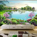 3D 壁紙 1ピース 1㎡ 自然風景 森林 白鳥の湖 公園 草花 インテリア 装飾 寝室 リビング 耐水 防カビ h02411