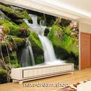 3D 壁紙 1ピース 1㎡ 自然風景 滝の景色 苔 インテリア 装飾 寝室 リビング 耐水 防カビ h02415