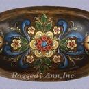 ログランドのスタイルで描いたウッドの楕円ボウル